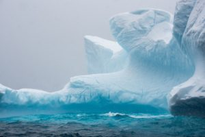 A large iceberg in the oceans around Antarctica