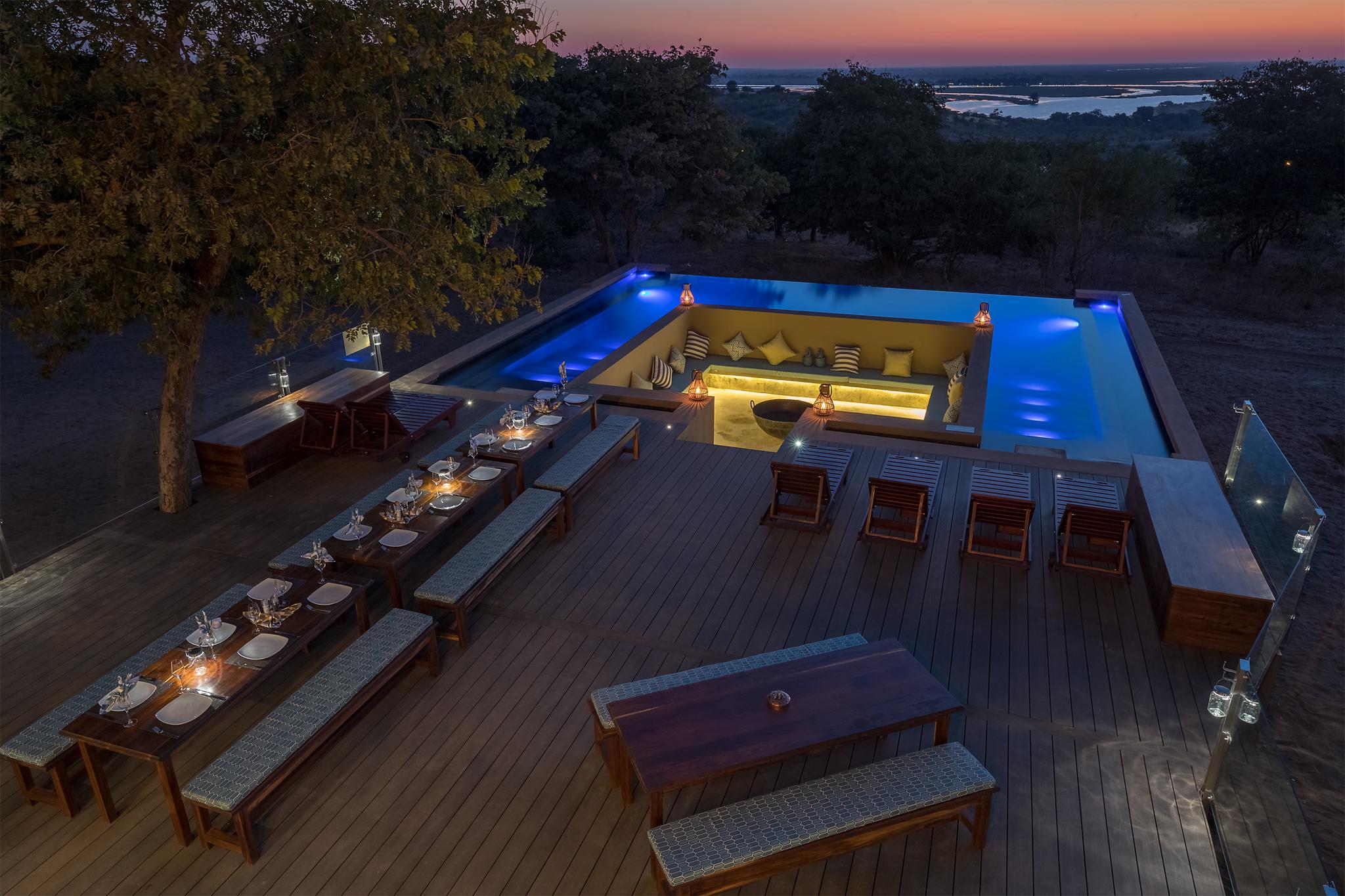 Relax in the Pangolin Safari Lodge infinity pool