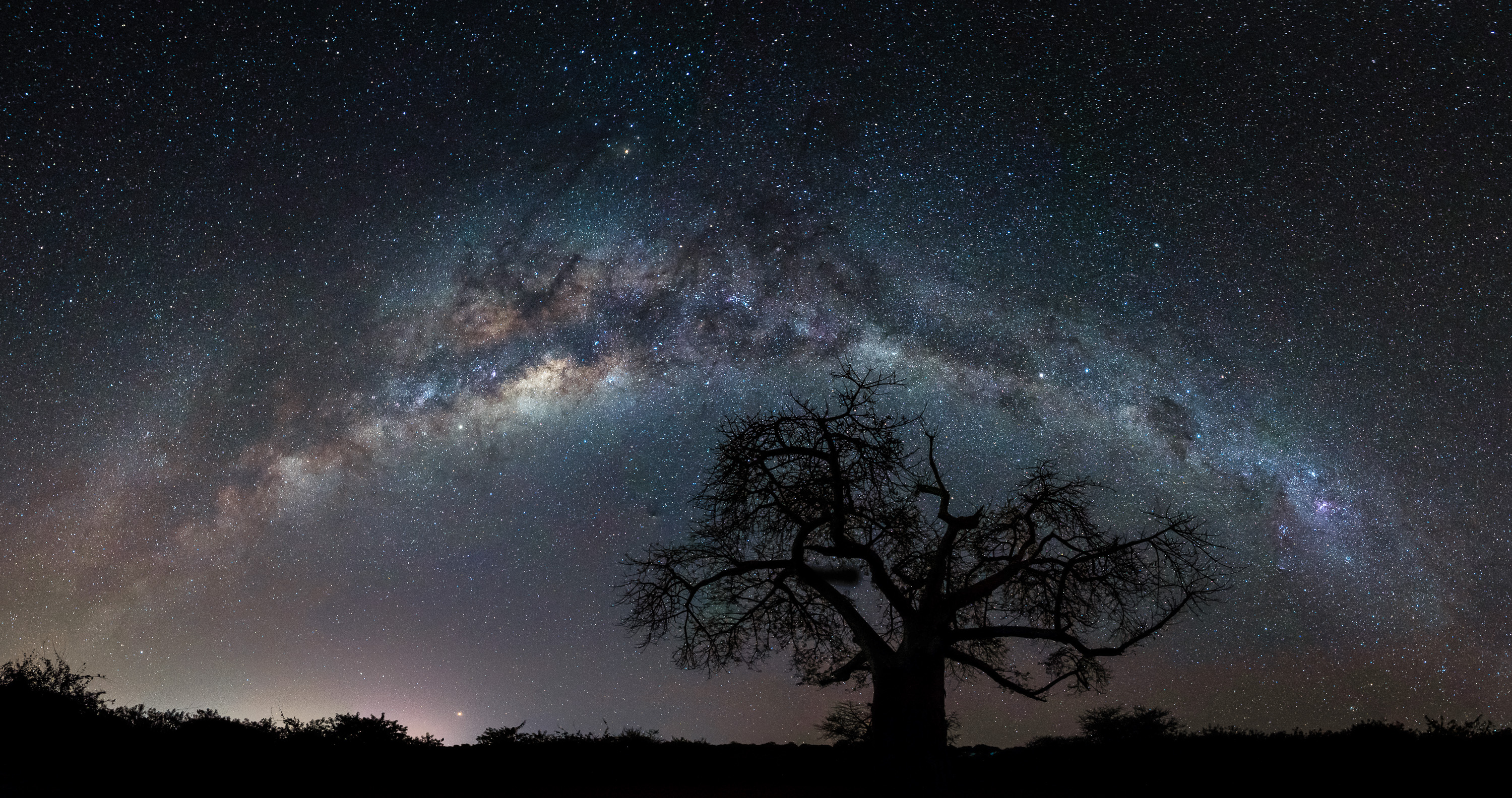 The Mily Way stretches across the night sky in Africa