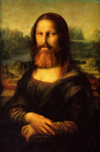 The Mona Lisa, a self portrait by Dave